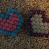 2 Colored Hearts