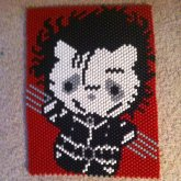 Edward Scissorhands Hello Kitty Poster