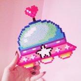 Alien UFO Magical Rainbow Spaceship