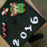 My Graduation Cap With Legend Of Zelda Perlers
