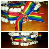 Rainbow Ribbon Cuff With Music Note