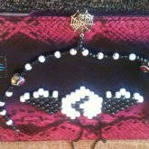 Spider Choker And Broken Heart Angel Necklace