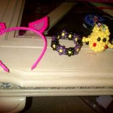Kitty Ears, Flower Cuff, And Pikachu <3