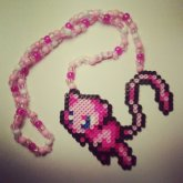 Mew Perler Necklace