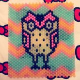 Kandi Owl Bag Front (Glows In The Dark)
