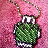 Yoshi Head Necklace
