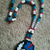 Great Ball Perler Kandi Necklace