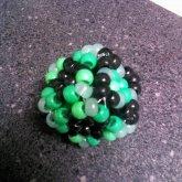 3D Cube Black N Green