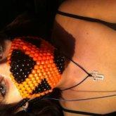 Orange X mask