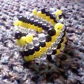 Black, Yellow & Clear Diagnal
