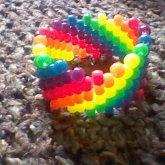 Diagonal Neon Rainbow