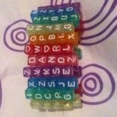 Rainbow Glitter Letter Cuff