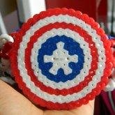 Perler Captain America Shield On My Captain America Cage Cuff