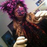 Purple Tiger Kandi Mask