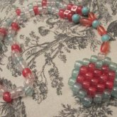 Peyote Heart Rosary-ish Necklace