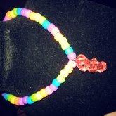 Rainbow Choker With A Bear On It