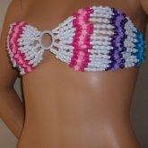 Cotton Candy  Kandi Bikini Top