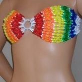 Rainbow Star  Kandi Bikini Top