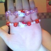 2 Singles Hello Kitty Bracelets