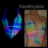 Glow In The Dark Rave Bra