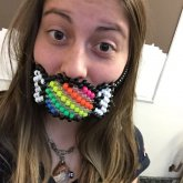 Striped Rainbow Candy Mask