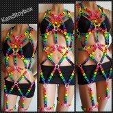 Rainbow Kandi Harness