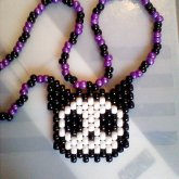 Skelanimal Kitty Head Necklace