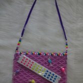 Candy Buttons Glow N The Dark  Purple Purse