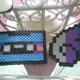 Cassette Tape And Wing Perlers