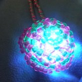 Glowy Mega Star Necklace Pink/green (glowing)