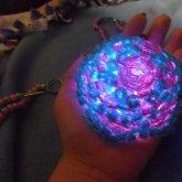 Glowy Mega Star Necklace Blue/pink (glowing)