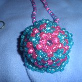 Glowy Mega Star Necklace Blue/pink