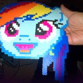 My First Perler Bead Creation Finished