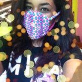 Pink & Blue Kandi Mask