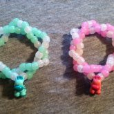 Green And Pink Giraffe Bracelets