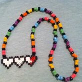Heart Containers Kandi Necklace