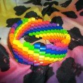 Perler Bead Rainbow Diagonal Cuff! <3