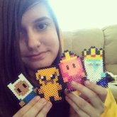 Adventure Time Perler Bead Creations