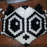 Panda Kandi Mask with Ears Detail
