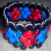 Red Blue And Black Peyote