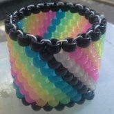 Rainbow Peyote Stripe Cuff