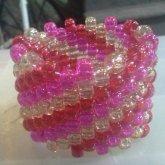 Red And Pink Swirl Cuff