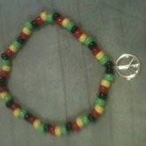 Kandi Rasta Peace Sign Choker