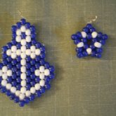 Anchor And Star Earrings.