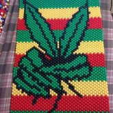 Peace Weed Leaf Poster