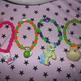 Hello Kitty, Yoshi, My Little Pony And Duckie Braclets