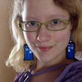 TARDIS Ear Danglers