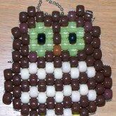Kandi Owl Keychain