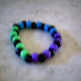 Green, Blue, Purple And Black Single
