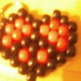 Peace Sighn Heart Keychain